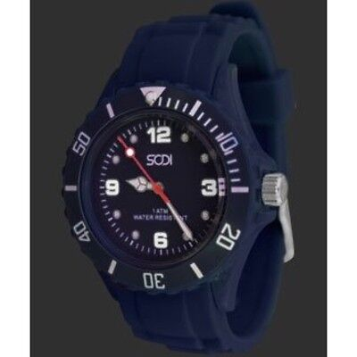 New Navy Blue Unisex Mens Womens Silicone Rubber Sports Watches Watch