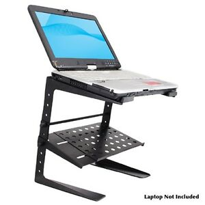 Pyle-Pro Laptop Computer Stand For DJ with Storage Shelf