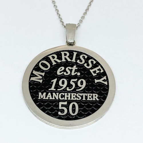 Vintage MORRISSEY 50th Birthday Manchester Medallion - 29mm Size Sterling Silver