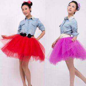 mode femmes lastique tulle robe ados 3 couches adultes danse tutu skirt jupes. Black Bedroom Furniture Sets. Home Design Ideas
