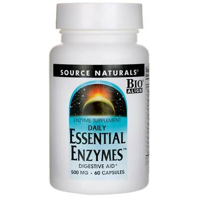 Source Naturals Daily Essential Enzymes 500 mg 60 Caps.