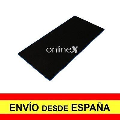 Alfombrilla Teclado y Raton Antideslizante Mouse XXL Gaming Negro Azul a3389