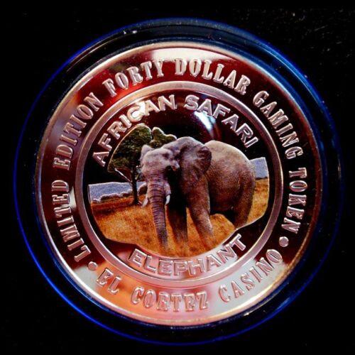"""HARD TO FIND / El Cortez - """"$40 Colorized Elephant"""" / BLUE CAP / Las Vegas"""