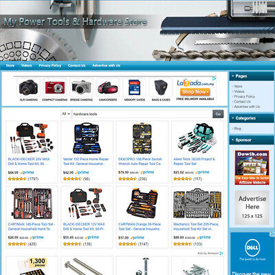 Power Tools Hardware Store - Home-based Affiliate Business Website For Sale
