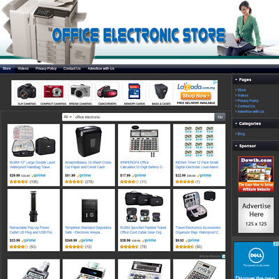 Office Electronics Store - Best Online Affiliate Business Website For Sale
