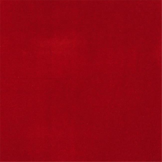 Designer Fabrics C863 54 in. Wide Red Solid Plain Velvet Automotive Residenti...