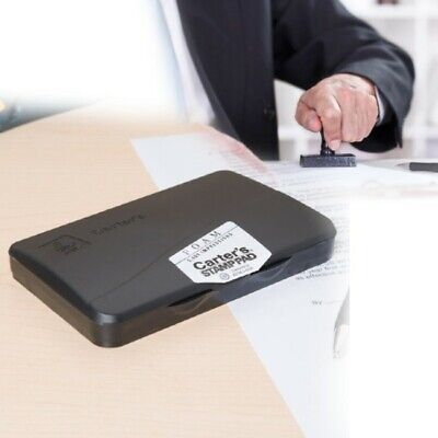 Foam Stamp Pad For Office Ink Black Pre Inked 2.75 X 4.25 Inches