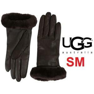 NEW UGG SMART GLOVES WOMEN'S SM 11961 151157041 BROWN LEATHER SHEEPSKIN CASHMERE SEE COMMENTS