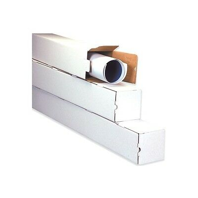 Square Mailing Tubes 2 X 2 X 25 White 50bundle