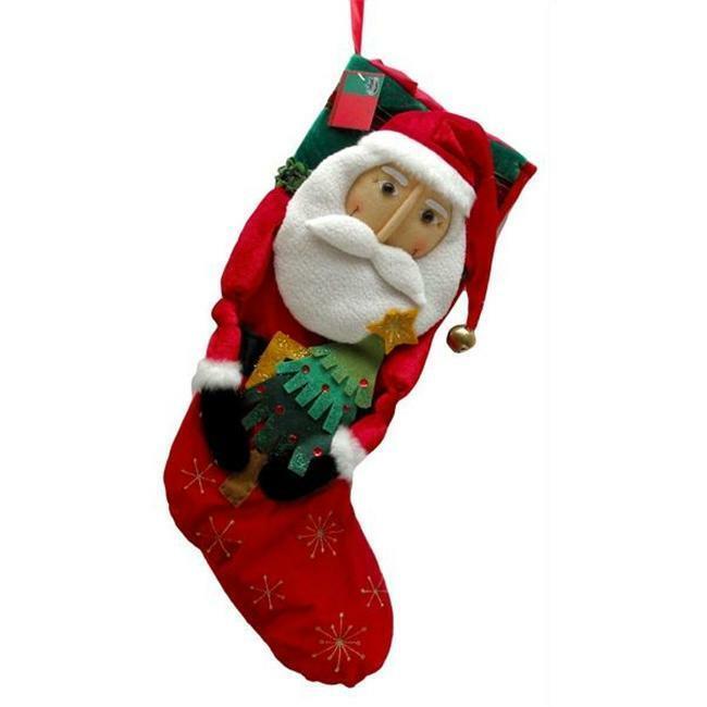 IWDSC 0197-244149S 19  Santa Fabric Stocking