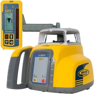 Spectra Laser Level Ll300n W Hl450 Receiver Alkaline Batteries