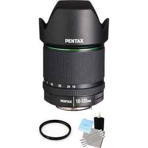 Pentax SMC DA 18-135mm F/3.5-5.6 ED AL (IF) DC WR Lens + UV & Cleaning Kit