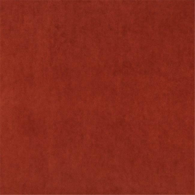 Designer Fabrics K0000L 54 in. Wide Rust Red Authentic Cotton Velvet Upholste...