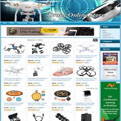 Drones Electronic Store - Turnkey Online Website Amazon Google Affiliate Biz