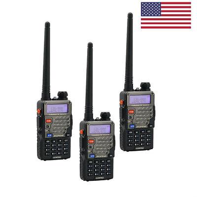 (3x Baofeng UV-5R Plus > V2+ DUal V/UHF Handheld HT 128CH VOX FM Two way Radio US)