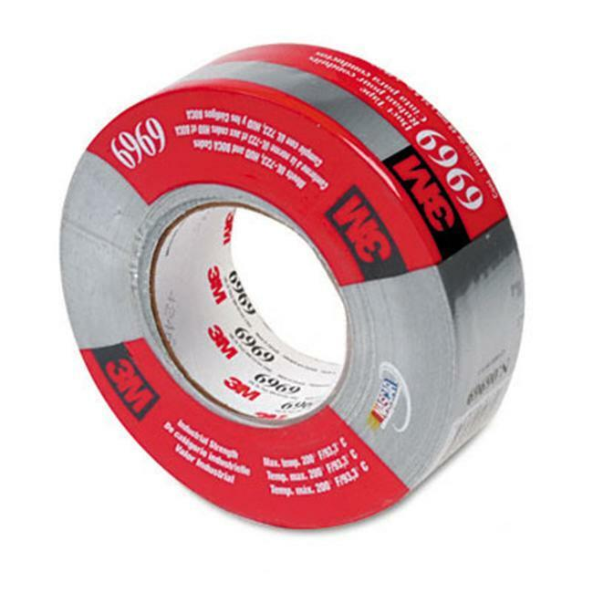 3M 69692 Poly-Coated Cloth Duct Tape for HVAC 2 x 60 Yards 3 Core Silver