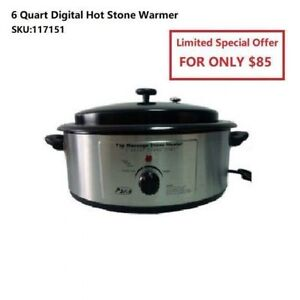 Back In Stock Digital Hot Stone Warmer From ONLY $85!!