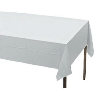 Creative Converting 813272 50 x 108 in. Better Than Linen Table Cover White