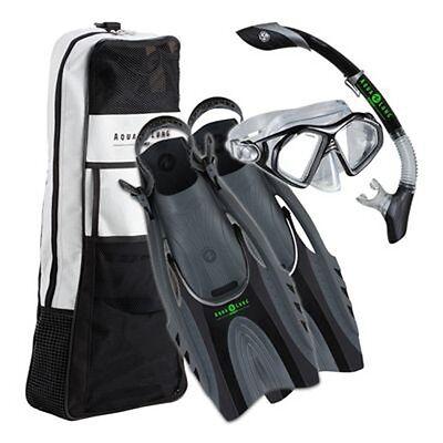 Aqua Lung 4pc Dive Set - Admiral 2 LX Hinge Flex Fins/Snorkel/Mask/Bag - S/M