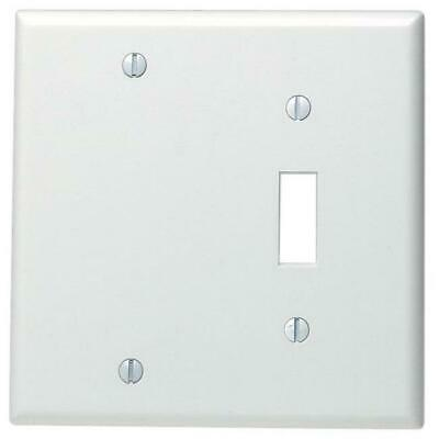 Leviton 002-88006-0 Single Gang White Toggle & Blank Wallpla