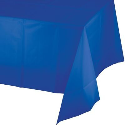 Cobalt Blue Plastic Banquet Tablecloth 54