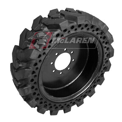 Skid Steer 12-16.5 Solid Tires Maximizer Mt Flat Proof Set Of Four Tires
