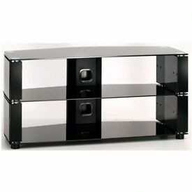 Impact L606 850mm Wide x 400mm deep TV Stand in Black Gloss - Excellent unmarked condition as new.