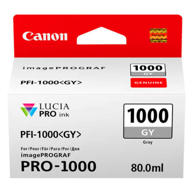Original Canon PFI-1000GY Grey Ink Cartridge 0552C001 for imagePROGRAF PRO-1000