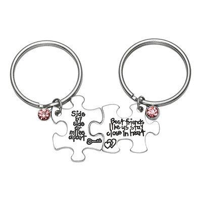 Best Friend Keychains (Best friend Like Us Stay Close In Heart Keychain Keyring Friend)
