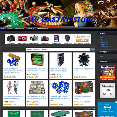 Casino Store - Top Dropship Website - Home Based Business High Potential Income