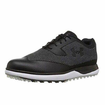 NEW Mens Under Armour UA Tour Tips Knit SL Waterproof Golf Shoes Black Sz 9.5 M
