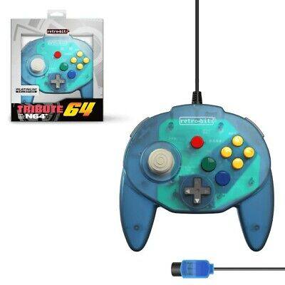 Mando Nintendo 64 Tribute64 azul Nuevo (tipo Hori Mini pad)