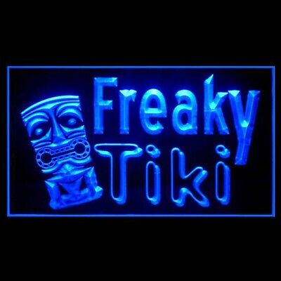 Neon Light Theme (170225 Freaky Tiki Exotically-themed Summer Pub Bar Display LED Light)