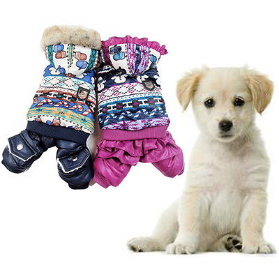 Pet Dog Winter Warm Snowman Coat Clothes Puppy Christmas Jumpsuit Hoodie Costume - Dog Snowman Costume