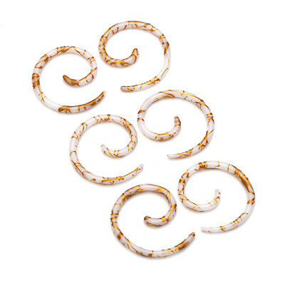 Pair Acrylic Body Piercing Spiral Snail Ear Expander Plug Taper Earrings Plug