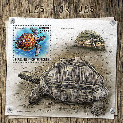 CENTRAL AFRICA 2016 TURTLES FAUNA TURTLE S/S CA16810