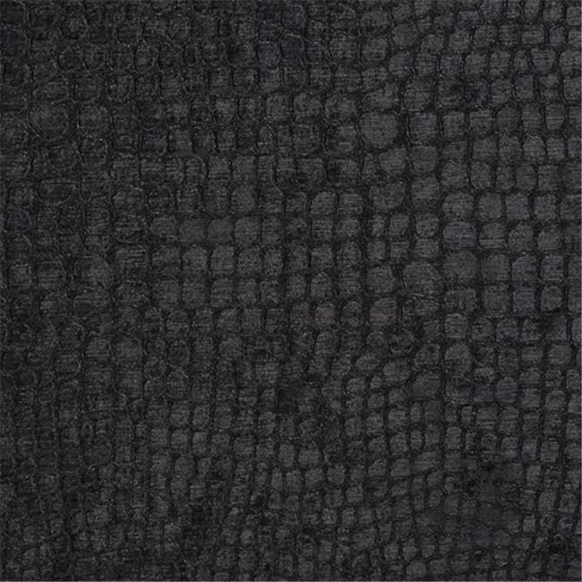 Designer Fabrics K0151R 54 in. Wide Black Textured Alligator Shiny Woven Velv...