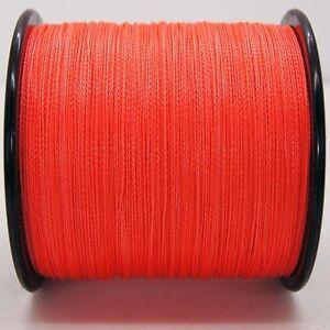 Orange fishing line ebay for Pink braided fishing line