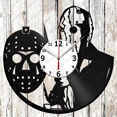 Jason Mask Vinyl Wall Clock Made of Vinyl Record Original gift - Jason Mask Original