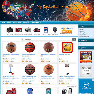 Nba Basketball Store - Online Business Website For Sale Free Domain Hosting