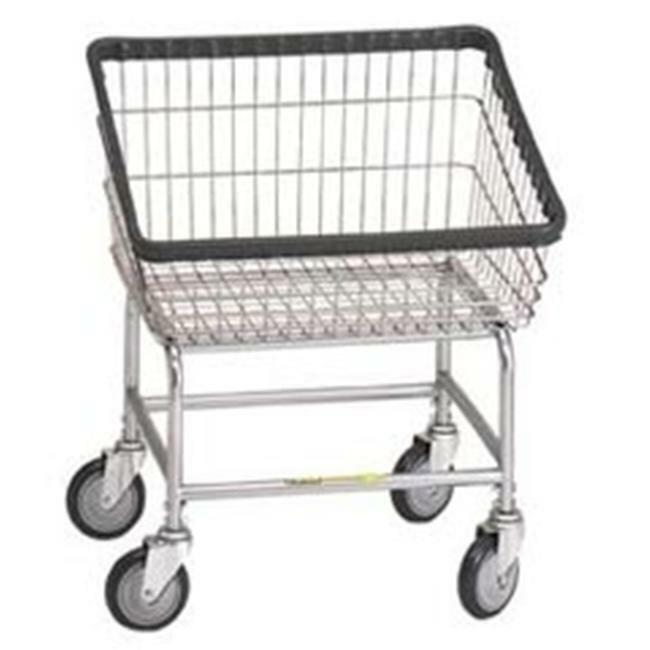 R&B Wire Products 100T Front Loading Wire Frame Metal Laundry Cart - Chrome