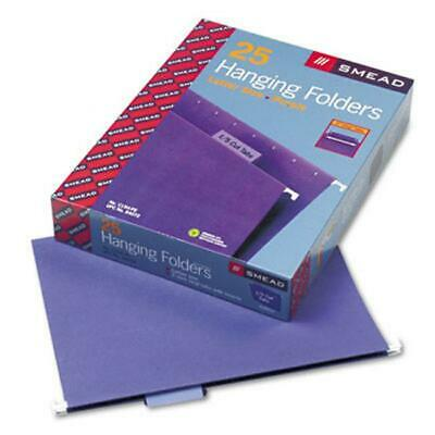 Smead 64072 Hanging File Folders- 15 Tab- 11 Point Stock- Letter- Purple- 25...