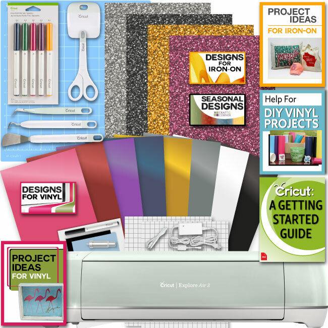 Cricut Explore Air 2 Machine Bundle Iron On Vinyl Pack Tools Pen Design Guide
