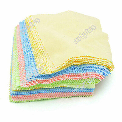 10PCS Microfiber Cleaning Glasses Spectacle Mobile Phone Screen Cleaning Cloth
