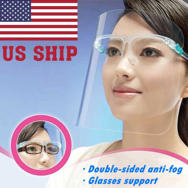 Safety Face Shield with CLEAR FLIP-UP VISOR Glasses Stand Droplet Splash Prevent