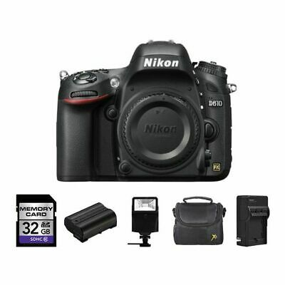 Nikon D610 Digital SLR Camera  + 2 Batteries, 32GB, Flash &