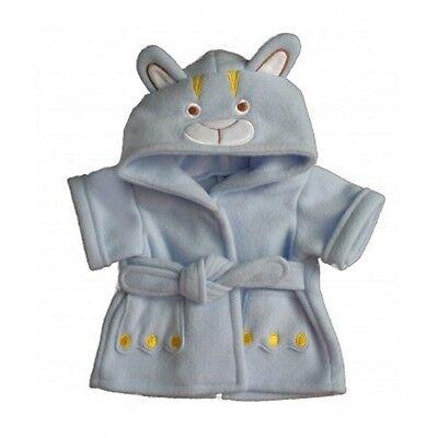 """Blue Bear Cozy Bathrobe -  teddy bear clothes fit 15"""" build a bear plush ted"""