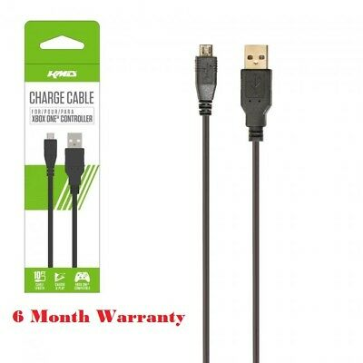 KMD 10 Feet USB Cable For Microsoft Xbox One Controller With Packaging Box Black for sale  Shipping to India