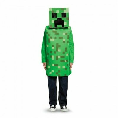 Minecraft Costume Creeper (Disguise Minecraft Creeper Video Game Mask Top Childrens Halloween Costume)