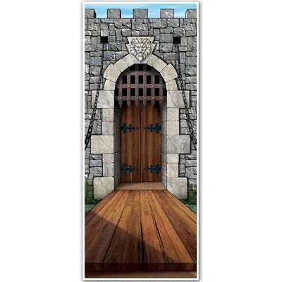 Castle Door Cover Medieval Renaissance Party Wall - Medieval Party Decorations